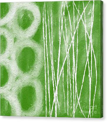 Shower Canvas Print - Bamboo by Linda Woods