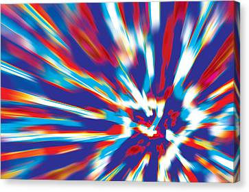 Canvas Print featuring the digital art Bang by David Davies