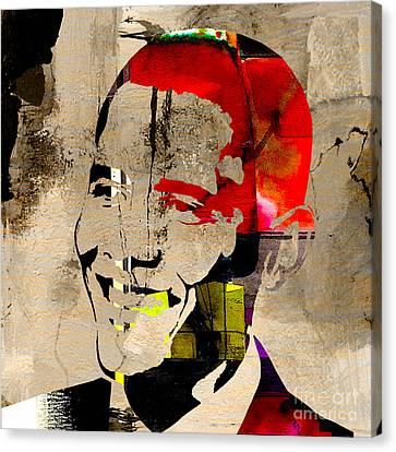 Barack Canvas Print - Barack Obama by Marvin Blaine