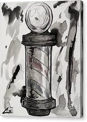 Barber Pole Canvas Print by The Styles Gallery