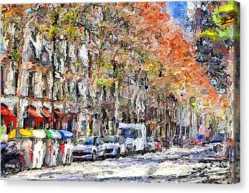 Port Town Canvas Print - Barcelona 1 by Yury Malkov