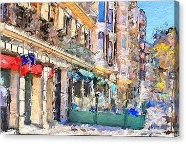 Port Town Canvas Print - Barcelona 3 by Yury Malkov