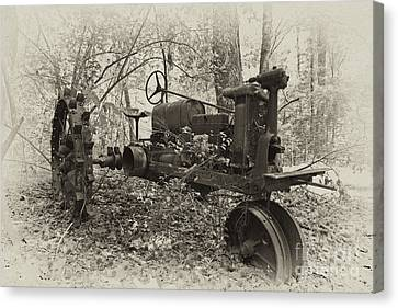Barksdale Tractor Canvas Print by Russell Christie