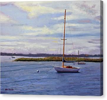 Barnegat Bay Morning Canvas Print by Mark Hunter