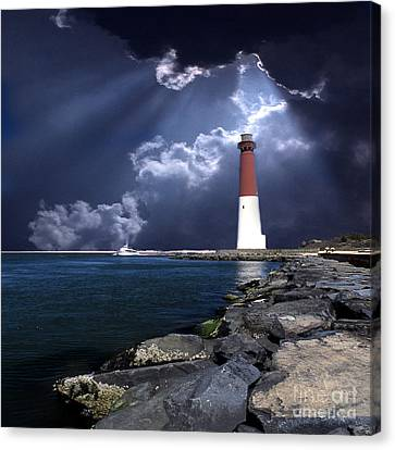 Barnegat Inlet Lighthouse Nj Canvas Print by Skip Willits