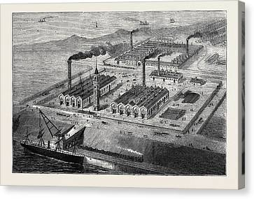 Barrow-in-furness Its History And Its Industries Canvas Print