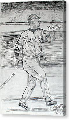 Barry Bonds Canvas Print - Barry Bonds by Darlene Ricks- Parker