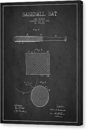 Baseball Canvas Print - Baseball Bat Patent Drawing From 1904 by Aged Pixel
