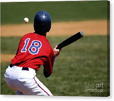 Baseball Batter Canvas Print by Lane Erickson