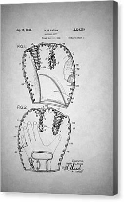 Baseball Glove Patent 1943 Canvas Print by Mountain Dreams