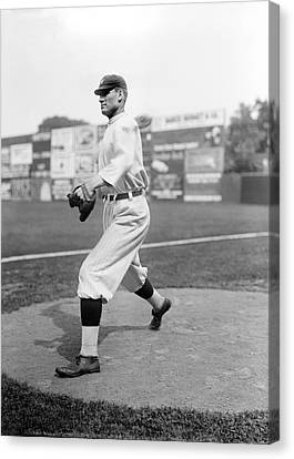 Baseball Uniform Canvas Print - Baseball Star Walter Johnson by Underwood Archives