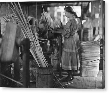 Evansville Canvas Print - Basket Factory, 1908 by Granger