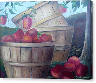 Baskets Of Apples Canvas Print by Glenda Barrett