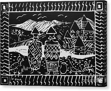 Basotho In Lesotho Canvas Print