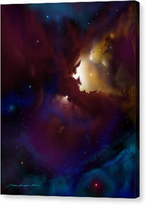 Bat Nebula Canvas Print by James Christopher Hill