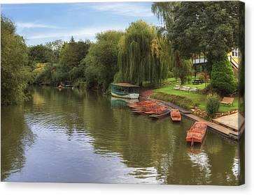 Rowboat Canvas Print - Bath by Joana Kruse