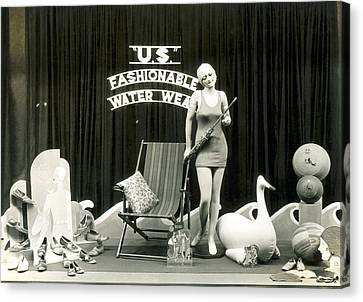Swim Suit Canvas Print - Bathing Suits Store Display by Underwood Archives