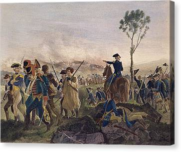 Battle Of Bennington, 1777 Canvas Print by Granger