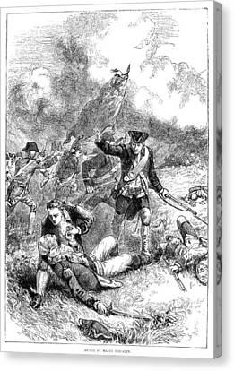 Battle Of Bunker Hill, 1775 Canvas Print by Granger