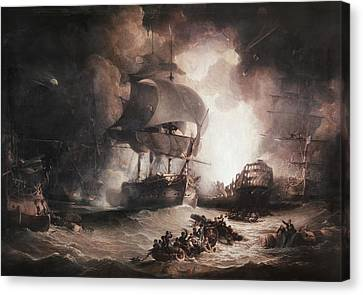 Battle Of The Nile, 1798 Canvas Print