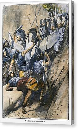Xerxes Canvas Print - Battle Of Thermopylae by Granger
