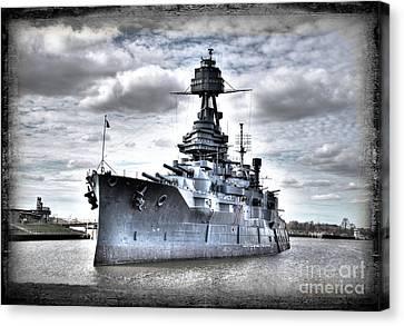 Battleship Texas Canvas Print by Savannah Gibbs