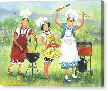 Bbq Chefs Canvas Print
