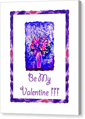 Be My Valentine Canvas Print - Be My Valentine by Irina Sztukowski