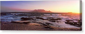Beach At Sunset, Blouberg Beach, Cape Canvas Print by Panoramic Images