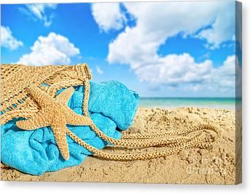 Beach Basket Canvas Print