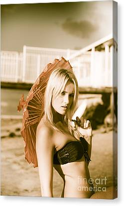 Beach Enchantress Canvas Print by Jorgo Photography - Wall Art Gallery