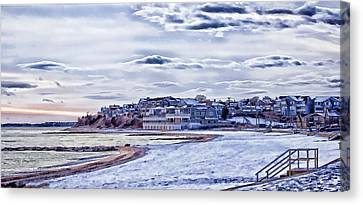 Canvas Print featuring the photograph Beach In Winter Photo Art by Constantine Gregory