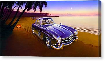 Beach Mercedes Canvas Print by Andrew Farley
