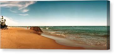 Beach, Morro De Sao Paulo, Tinhare Canvas Print by Panoramic Images