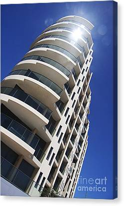 Beachfront Apartments Canvas Print by Jorgo Photography - Wall Art Gallery