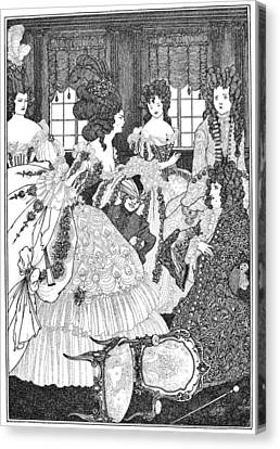 Beardsley: Rape Of Lock Canvas Print by Granger