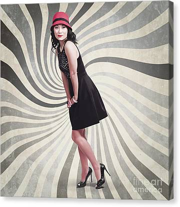 Beautiful Asian Woman Posing. Vintage Style Canvas Print by Jorgo Photography - Wall Art Gallery