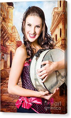 Beautiful Fine Art Girl On Europe Travel Tour Canvas Print by Jorgo Photography - Wall Art Gallery