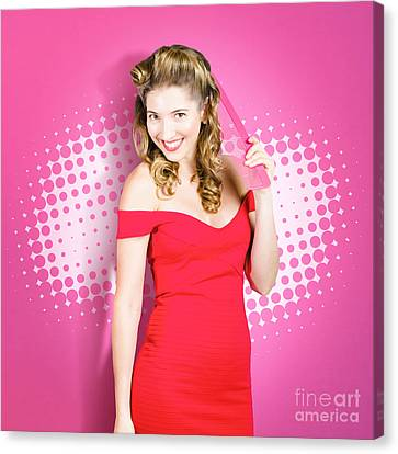Hairstyle Canvas Print - Beautiful Retro Woman. Salon Hairstyle Pin-ups by Jorgo Photography - Wall Art Gallery