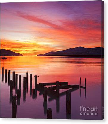 Harbour Canvas Print - Beautiful Sunset by Colin and Linda McKie