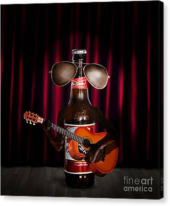 Performers Canvas Print - Beer Bottle Music Performer Playing Opening Act by Jorgo Photography - Wall Art Gallery