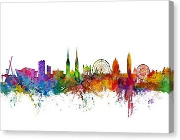 Belfast Northern Ireland Skyline Canvas Print