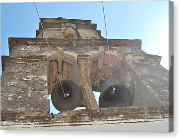 Canvas Print featuring the photograph Bell Tower 1584 by George Katechis