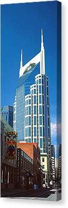 Downtown Nashville Canvas Print - Bellsouth Building In Nashville by Panoramic Images