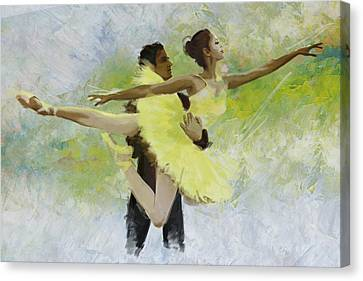 Ballet Dancers Canvas Print - Belly Dancers by Corporate Art Task Force