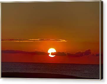 belmar sunrise New Jersey 2 Canvas Print by Geraldine Scull