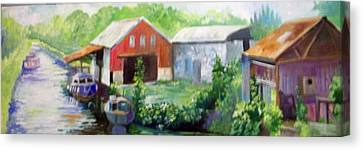 Canvas Print featuring the painting Belmont  Co Offaly by Paul Weerasekera