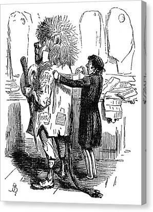 Benjamin Disraeli Cartoon Canvas Print by Granger
