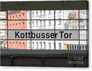 Ubahn Canvas Print - Berlin Kottbusser Tor by Jannis Werner