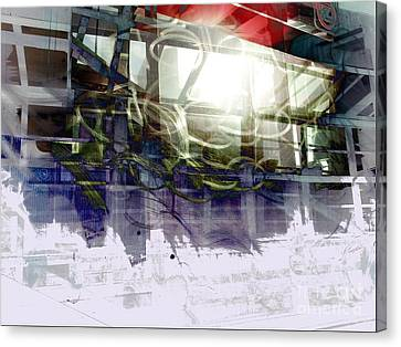 Berlin S Bahn Travails Canvas Print by Aruna Samivelu